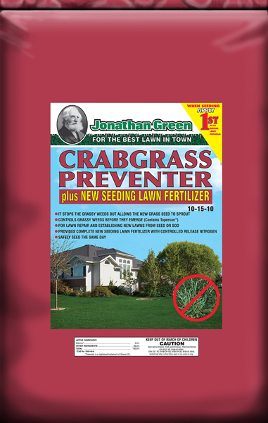 Crabgrass Preventer plus New Seeding Lawn Fertilizer 10-15-10